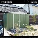 【代引き不可】【EURO SHED ユーロ物置】FRONT ENTRY 3022F2物置 おしゃれ 屋外収納庫