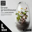 【Design House Stockholm デザインハウスストックホルム】Grow GREENHOUSE clear Lグロウ グリーンハウス クリア ガラス L 鉢 植木鉢 北欧 Vase 花瓶【コンビニ受取対応商品】【RCP】