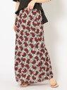 ショッピングロングスカート [Rakuten Fashion]【SALE/60%OFF】DEVEAUXマーメイドスカート SHIPS WOMEN シップス スカート ロングスカート ブラウン オレンジ【RBA_E】【送料無料】