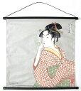 日本のお土産和風インテリア 海外おみやげ浮世絵タペストリー喜多川歌麿 ビードロを吹く女