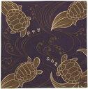 ショッピングタオル 日本製 和風布物(綿チーフ)開運亭 小風呂敷 和柄はんかち縁起物 開運 長寿亀はんかち