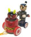 日本おもちゃ 郷土玩具全日本こけしコンクール運輸大臣賞 受賞作品手作り 木地玩具 桃太郎