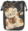 【日本製】 和風布物 縁起物づくし開運亭 福招き猫