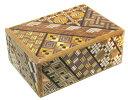 民芸品 工芸品 海外向けおみやげ寄木細工 箱根の組木細工4寸 秘密箱 10回