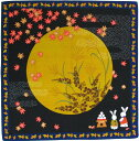 日本製 和風布物(綿チーフ)小風呂敷 和柄はんかち(ハンカチ)レイアウト お月見