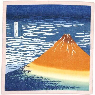 日本のお土産 海外おみやげ日本はんかち(ハンカチ)浮世絵物語 葛飾北斎 赤富士