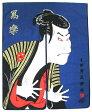 日本和風インテリア レイアウト 海外向けおみやげ浮世絵 風俗画 暖簾紺色 東洲斎写楽のれん