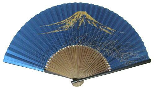 日本の伝統扇子(センス・せんす)男性用 扇子 親塗笹型 富士山