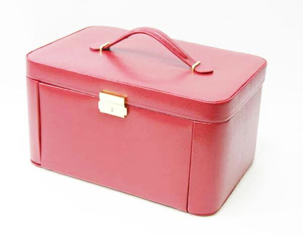 【送料無料】ジュエリーボックス(3107RED) 可愛いエンボス仕上げの宝石箱です。