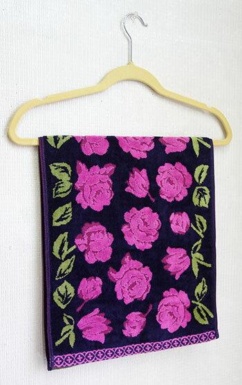 【即納可!!】再入荷しました♪日本製 ジャカード織 フェイスタオル ピンクタオル エチュード2 バラ ローズ
