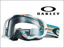オークリー MX ゴーグルクローバー MX OO7025-22グリッチ ブルー/オレンジ