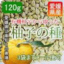 メール便可【愛媛産】有機柚子の種 無添加な柚子を使用 120g