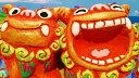 【シーサー】米子焼き★ゆがふ(M)2色★沖縄・ペアシーサー・カラフル・可愛い・人気・置物・祝い・土産