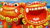 【シーサー】米子焼き★ゆがふ(M)2色★沖縄・ペアシーサー・カラフル・可愛い・人気・置物・祝い・土産魔除け・玄関・通販・かわいい・ペア・販売・誕生日プレゼント・贈り物・インテリア・新築祝い・内祝い・結婚祝い・引き出物・通販・販売・風水・ギフト・かっこいい…