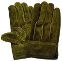A級革を厳選!プロ仕様の牛本革背縫い手袋です。 ユニワールド KS-465 オイルオリーブ背縫い 【5双入】 作業手袋 牛革手袋 皮手袋