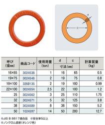 【TAIYO】大洋製器工業強力リング19mm径19×100mm使用荷重2T