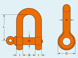 【TAIYO】大洋製器工業軽量シャックル捻込タイプ5tRSS-5TRSS5T