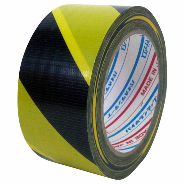 ダイヤテックス パイオランクロス 標示テープ(TT-06-YB) トラ 50mm幅×25m巻 1ケース(30巻入) (TO)