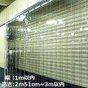 ショッピングのれん のれん式ビニールカーテンオーダーカットカーテン取り付けサイズ:幅1m以内×高さ2m51cm~3m以内用 1セット【耐寒(冷蔵庫・冷凍庫用)/フラット/厚み2mm/幅300mm/ラップ100mm/スチールフレーム付き】