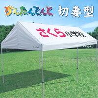 《代引不可・法人様宛対象》かんたんテント KG/8W 切妻型 大 3.0m×6.0m (スチール&アルミ複合フレーム)の画像