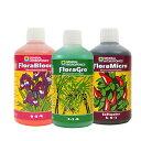 水耕栽培 液体肥料のGHE Flora Series 500ml お得な3本セット Hydroponic Nutrients