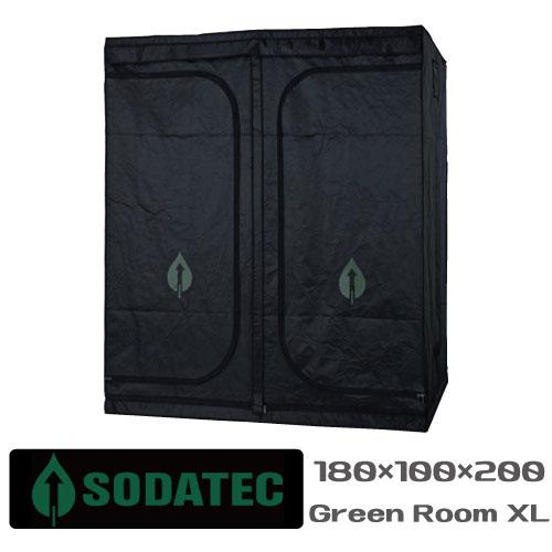 水耕栽培グロウボックス「SODATECKGREENROOMXL(180x100x200cm)」植物育