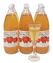 【送料無料】丸かじりできる津軽岩木山りんごの無添加、無加糖100%リンゴジュース 1リットル入り6本 05P04Jul15