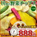★タイムセール 10種の野菜チップス 110g×2 送料無料 野菜チップス 野菜スナック 乾燥