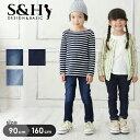 【S&H】デニムニットレギンス 90cm 95cm 100c...