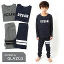 【GLAZOS】ロゴ&ラインモチーフルームウェア 子供服 男...
