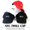 【GL Select】NYCツイルキャップ[4色展開] 子供服 男の子 女の子 キッズ ジュニア 帽子 刺繍