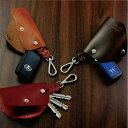 ショッピングHID キーケース ローハイドレザー 国産スマートキーケースブラック ブラウン キャメル レッド ネイビー
