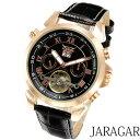 メンズ腕時計 【全針稼動の本格仕様】インナーベゼル自動巻きクロノグラフ腕時計【BOX・保証書付】