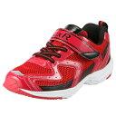[ジーエックスアール] GXR GXR-K001 キッズ | 子供靴 運動靴 | 面ファスナー 着脱テープ 反射材 | 体育 運動会 | 軽量 屈曲性 幅広 | レッド