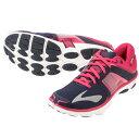 ブルックス BROOKS WOMEN PUREFLOW 4 (404) 1201801B404 レディース ランニングシューズ ジョギング トレーニング クッション性 シンプル ネイビーピンク