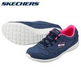 [スケッチャーズ] SKECHERS 22806 レディース | ウォーキングスニーカー | STARDUST - CRUISING | レースアップ ローカット | 大きいサイズ対応 24.5cm | ネイビーピンク