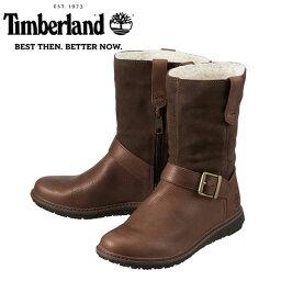 [ティンバーランド] Timberland TIMB A113O レディース   エンジニア風ブーツ   アッシュデイル ミッドカット   防水加工 ショートブーツ   ダークブラウン