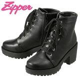[���åѡ�] Zipper ZP-175 ��ǥ����� | ���硼�ȥ֡��� ����֡��� | ���ҡ��� ������ҡ��� | ���� �졼�����å� �� | �礭���������б� 24.5cm 25.0cm 25.5cm | �֥�å�