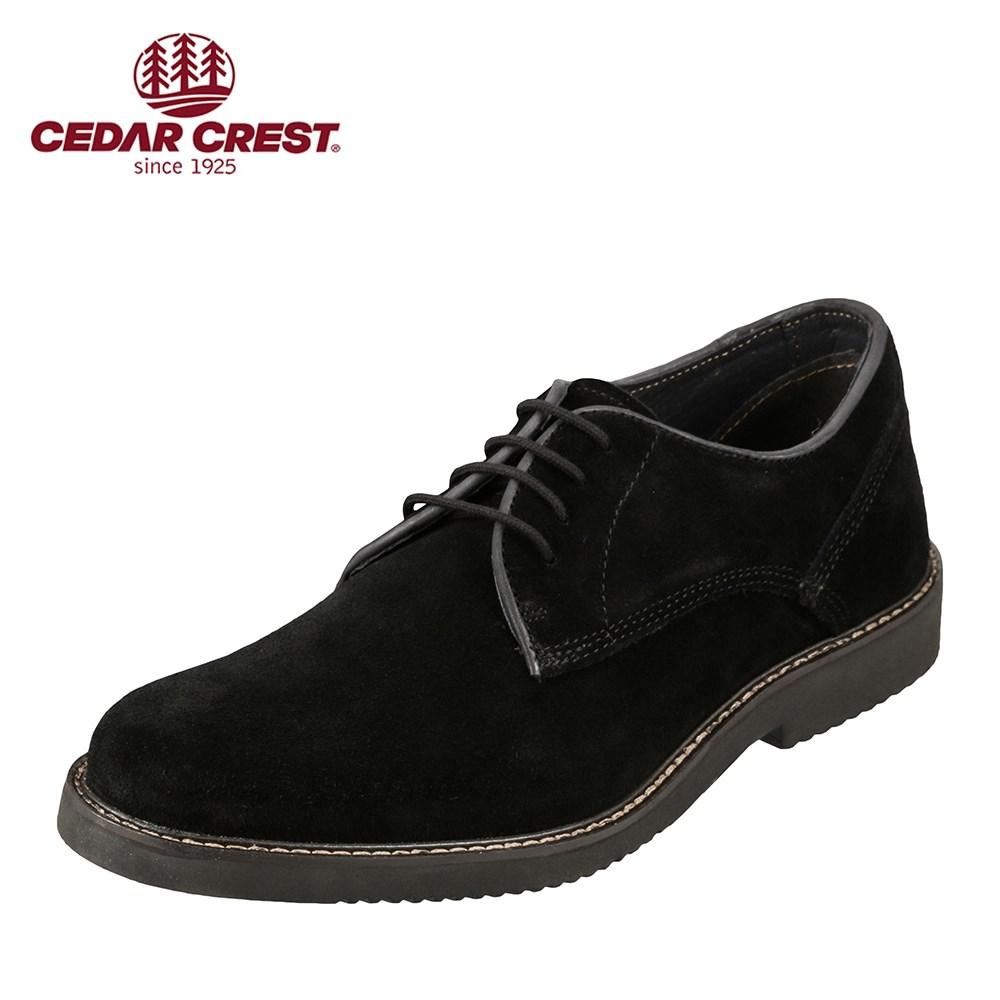セダークレスト CEDAR CREST カジュアルシューズ CC-1990 メンズ 靴 靴 シューズ 3E相当 カジュアルシューズ 本革 紳士靴 幅広 レースアップ 撥水加工 大きいサイズ対応 28.0cm ブラック 取寄