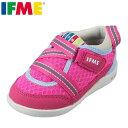 イフミー IFME スニーカー 22-8000 ベビー靴 靴 シューズ 3E相当 ベビーシューズ キッズスニーカー 子供 女の子 幅広 ファーストシューズ プレゼント ギフト ピンク