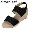 ショッピングウエッジソール クローバーリーフ cloverleaf CL-135 レディース靴 靴 シューズ 2E相当 サンダル ウェッジソール ゴムバンド フィット感 定番 シンプル ブラック