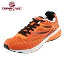 【スペシャルプライス】[セダークレスト] CEDAR CREST CC-9704 メンズ | メンズスニーカー | ランニングシューズ ジョギング | スポーツ 軽量 メッシュ | セダークレスト おしゃれ | オレンジ