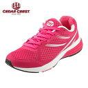 [セダークレスト] CEDAR CREST CC-9704W レディース | レディーススニーカー | ランニングシューズ ジョギング | スポーツ 軽量 メッシュ | セダークレスト おしゃれ | ピンク