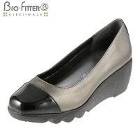 [バイオフィッターキレイウォーク]BioFitterBFL-8007レディース|ウェッジソールパンプス|ラウンドトゥローヒール|美脚軽量防臭|大きいサイズ24.5cm|スチール
