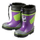 [ランドフォール] landfall B-96W キッズ・ジュニア | ラバーブーツ マリンブーツ | レインシューズ 長靴 | 雨靴 暖かい | 男の子 女の子 | パープル