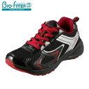 [バイオフィッター スポーツ] Bio Fitter BF-356 キッズ ジュニア | キッズスニーカー ジュニアスニーカー | 子供靴 運動靴 | 抗菌 防臭 レースアップ | 男の子 女の子 | ブラック×レッド