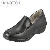 [ハイドロテック・ファム] HYDRO TECH femme HD2311 レディース | ウォーキングシューズ | 幅広 3E 本革 | 防水機能 スリッポン | ブランド 軽量 | ブラック (小さいサイズ)(大きいサイズ)