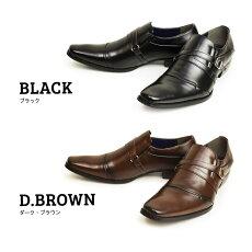 ビジネスシューズストレートチップモンクストラップ脚長紳士靴紐靴メンズ靴