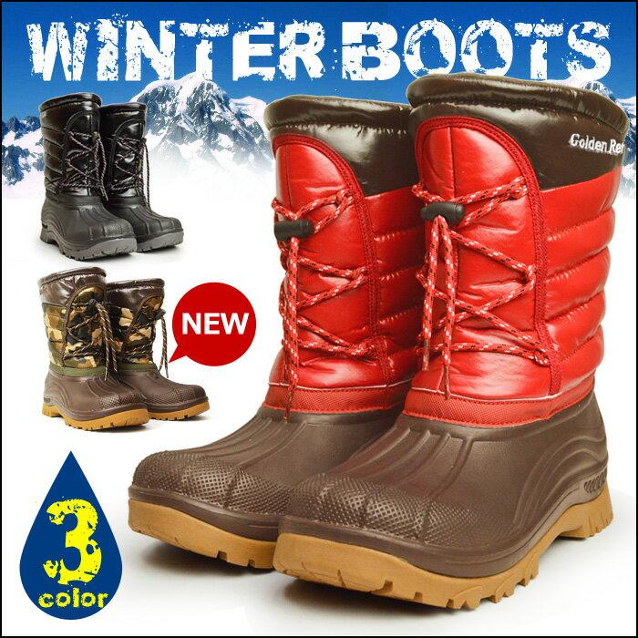 【送料無料】スノーブーツ メンズ メンズブーツ 防水 防寒 レインブーツ 靴 メンズシュー…...:shoe-square:10002356