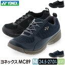 ショッピングヨネックス ヨネックス YONEX メンズ ウォーキング スニーカー ヨネックスMC89 パワークッション SHW-MC89 ブラック ネイビーブルー 24.5-27.0cm